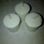 Bayberry Scented White Soy Candles
