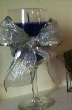Purple Wine Glass